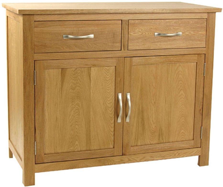 Essentials Oak Sideboard - 2 Door 2 Drawer