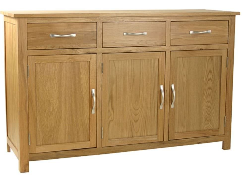 Essentials Oak Sideboard - 3 Door 3 Drawer Wide
