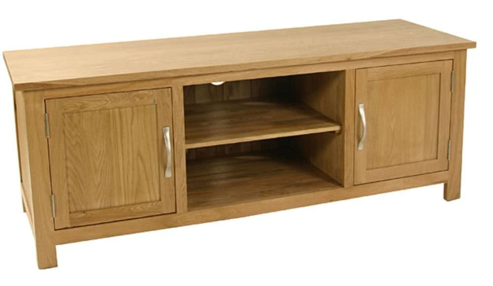 Essentials Oak TV Unit - 2 Door Plasma