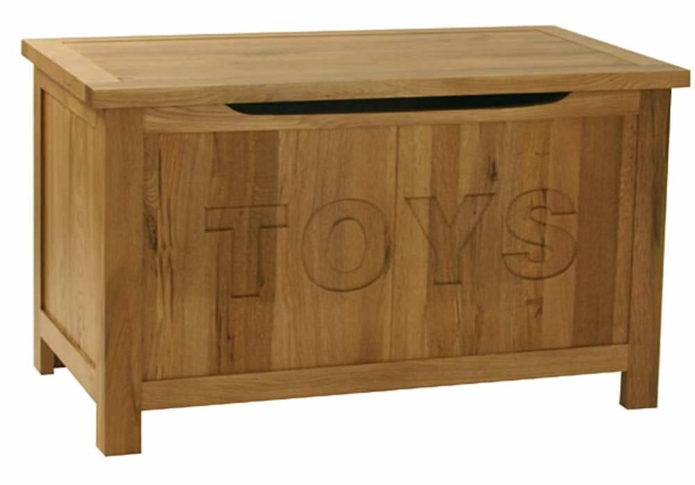 Essentials Oak Toy Box