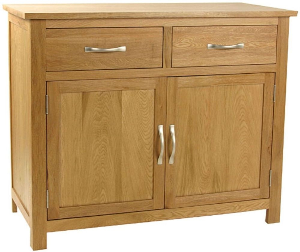 Essentials Oak 2 Door 2 Drawer Medium Sideboard