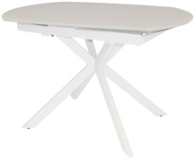 Flux White 120cm-180cm Extending Motion Dining Table