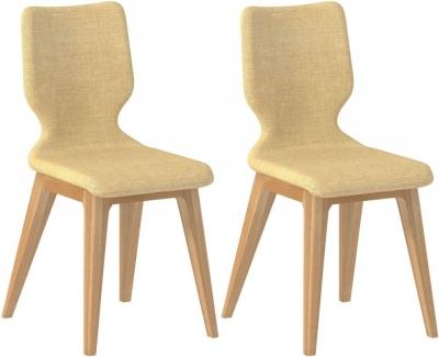 Forma Cream Fabric Dining Chair (Pair)