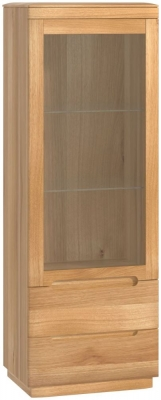 Forma Oak Glazed Left Hand Display Cabinet
