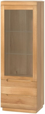Forma Oak Glazed Right Hand Display Cabinet
