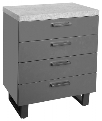 Fusion Stone Effect 4 Drawer Chest