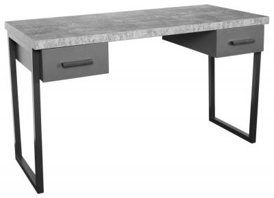 Fusion Stone Effect 2 Drawer Desk