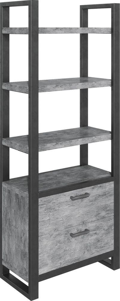 Fusion Stone Effect Bookcase
