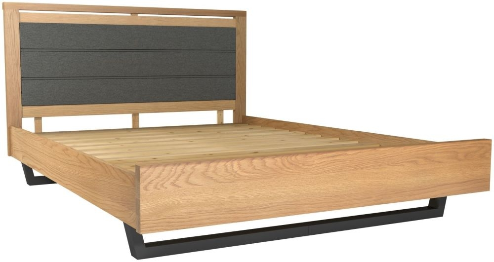 Fusion Oak Upholstered Bed