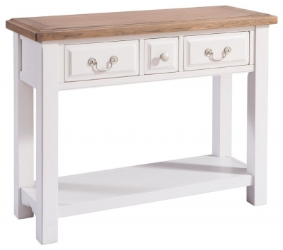 Georgia Oak and Grey Painted Console Table