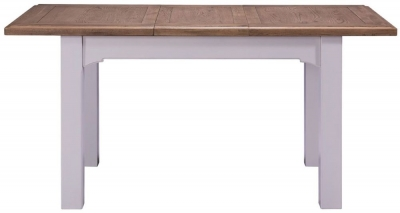Georgia Oak and Grey Painted 125cm-165cm Extending Dining Table