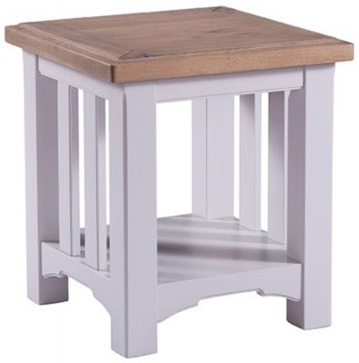 Georgia Oak and Grey Painted Lamp Table