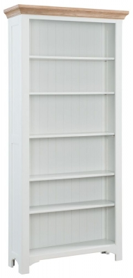 Georgia Oak and Grey Painted Bookcase