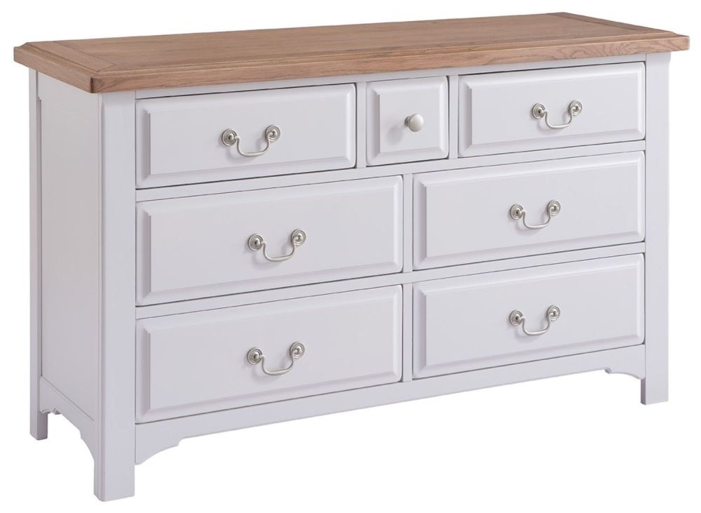 Georgia 3+4 Drawer Chest - Oak and Grey Painted
