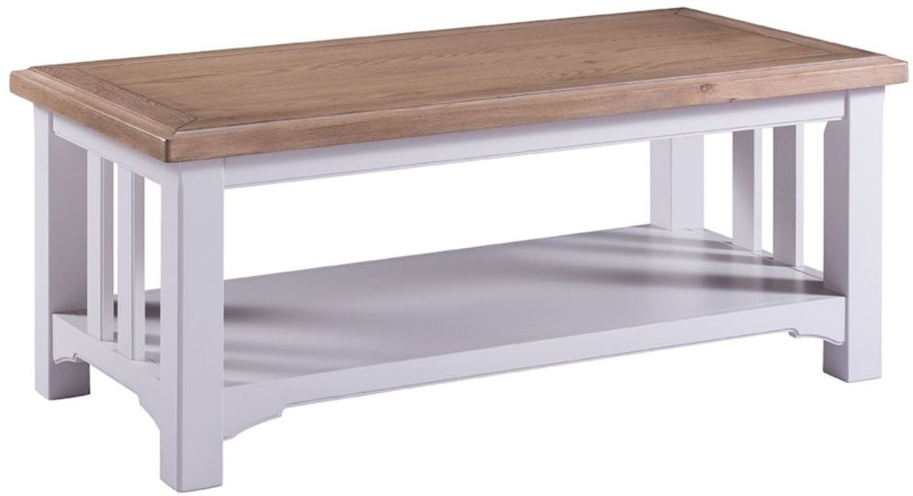 Georgia Oak and Grey Painted Coffee Table