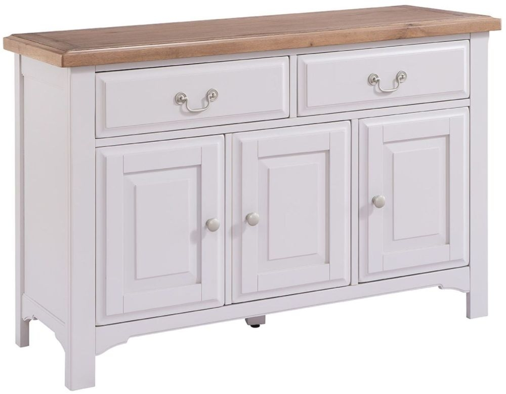 Georgia Large Sideboard - Oak and Grey Painted