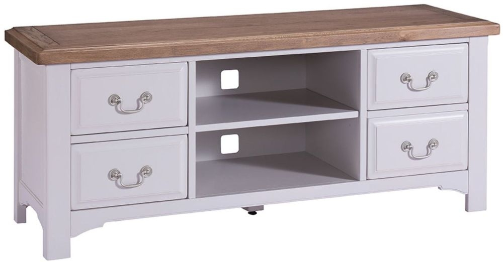 Georgia TV Unit - Oak and Grey Painted