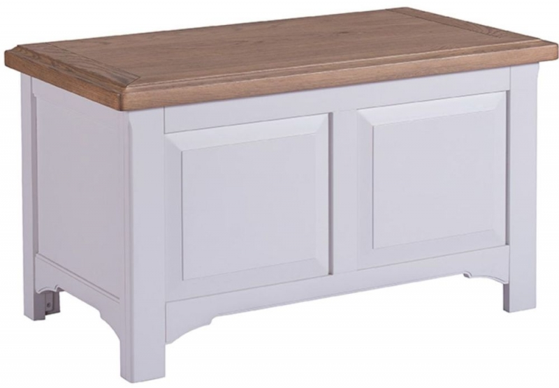 Georgia Oak and Grey Painted Blanket Box