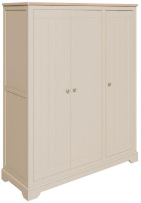 Harmony Cobblestone Oak and Painted Triple Wardrobe
