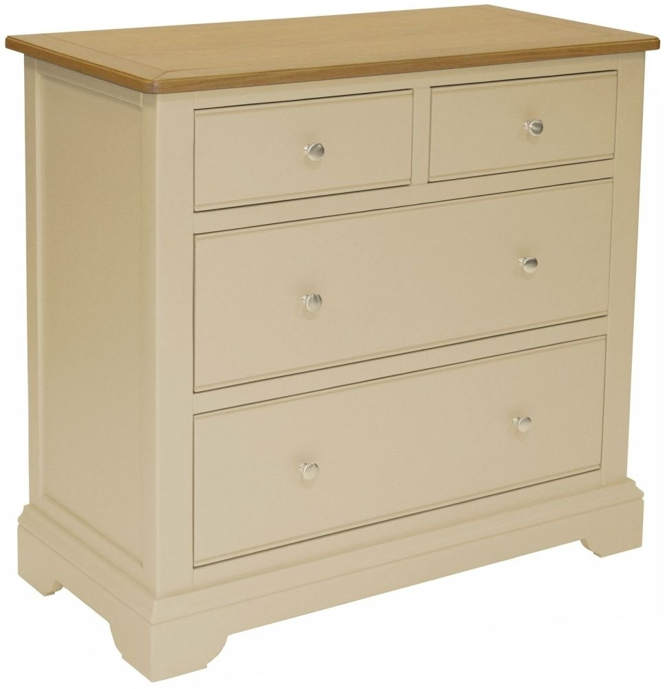 Harmony Cobblestone Oak and Painted 2+2 Drawer Chest