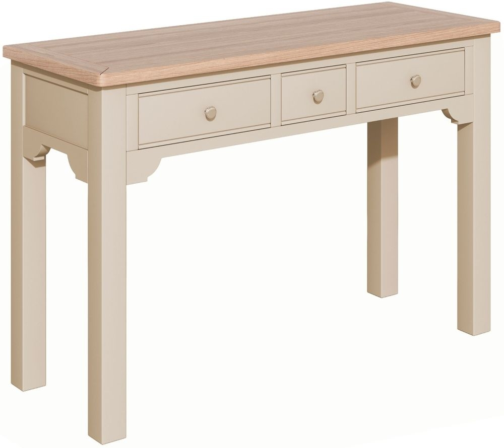 Harmony Cobblestone Oak and Painted Dressing Table