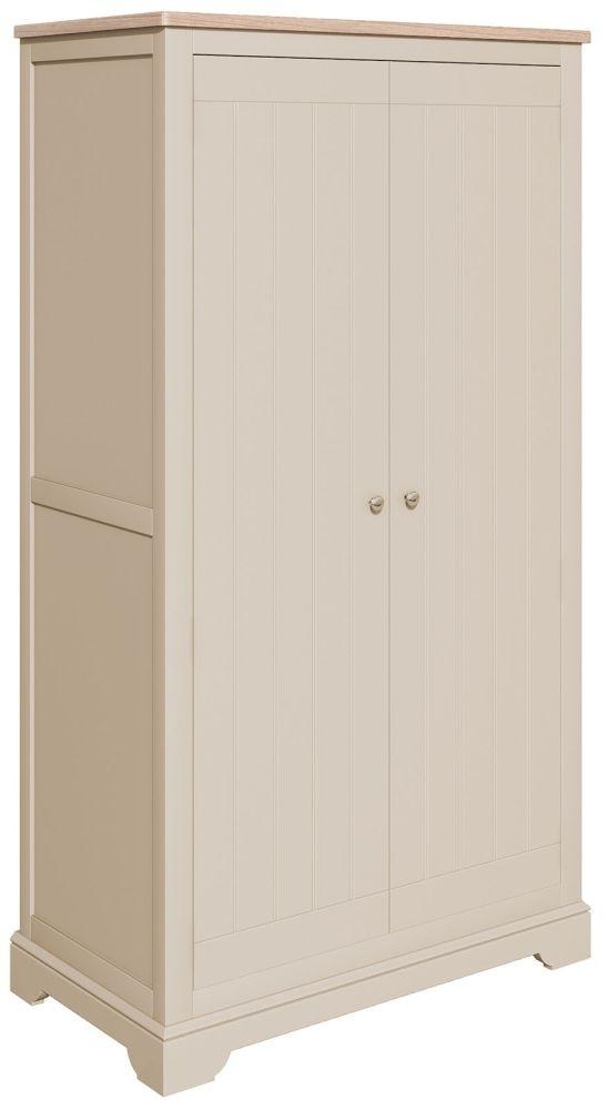 Harmony Cobblestone Oak and Painted Wardrobe