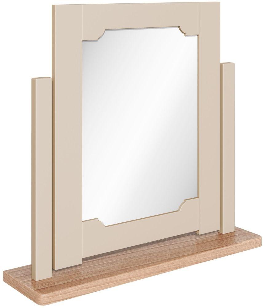 Harmony Cobblestone Oak and Painted Swivel Dressing Mirror