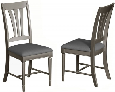 Harmony Grey Painted Dining Chair (Pair)