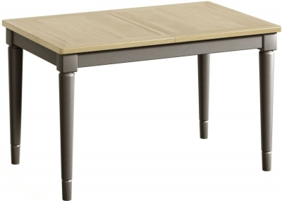 Harmony Oak and Grey Painted 125cm-165cm Extending Dining Table