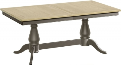 Harmony Oak and Grey Painted 180cm-220cm Extending Dining Table