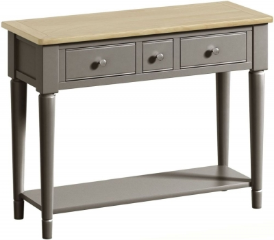 Harmony Oak and Grey Painted Console Table