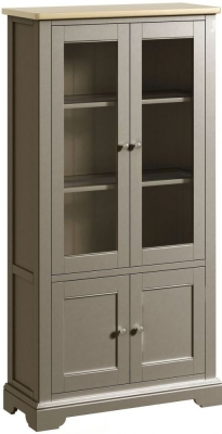Harmony Oak and Grey Painted Display Cabinet