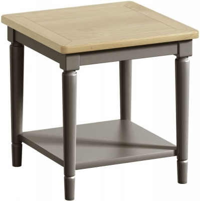 Harmony Oak and Grey Painted Lamp Table