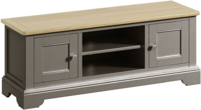 Harmony Oak and Grey Painted Wide TV Unit