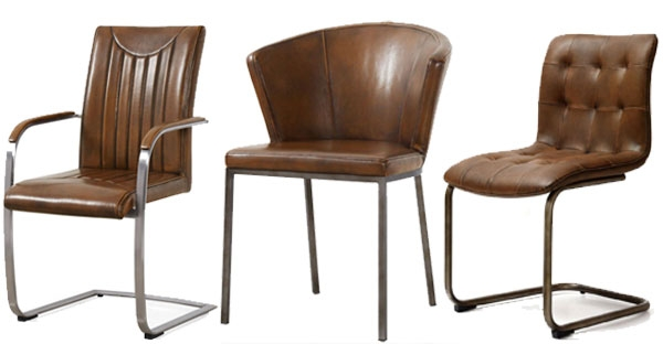 Industrial Faux Leather Chairs