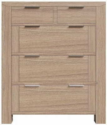 Laguna Oak 2 Over 3 Drawer Chest
