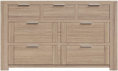 Laguna Oak 3 Over 4 Drawer Chest