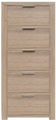 Laguna Oak 5 Drawer Tall Chest