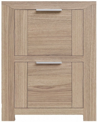 Laguna Oak 2 Drawer Bedside Cabinet