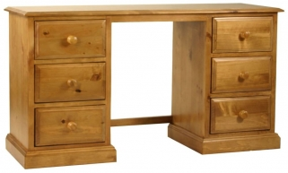 Langley Pine Dressing Table - Double Pedestal