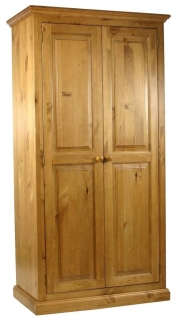 Langley Pine Wardrobe - Small Full Hanging