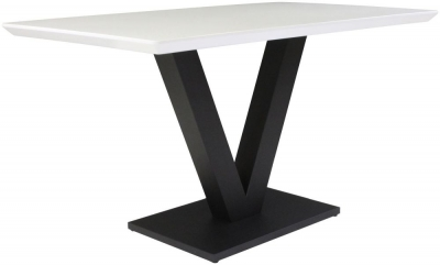 Larson White Gloss Dining Table
