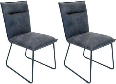 Larson Grey Suede Fabric Bar Stool (Pair)
