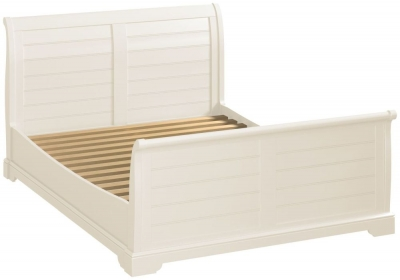 Lily White Painted Sleigh Bed