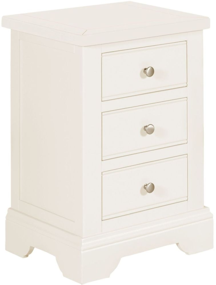 Lily White Painted Bedside Cabinet
