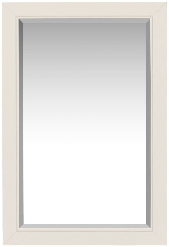 Lily White Painted Wall Mirror