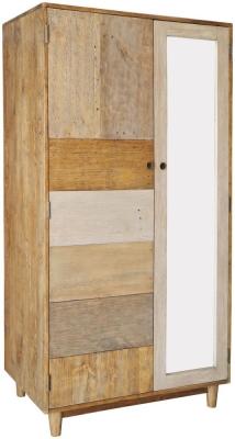 Loft Reclaimed Pine Wardrobe - Double