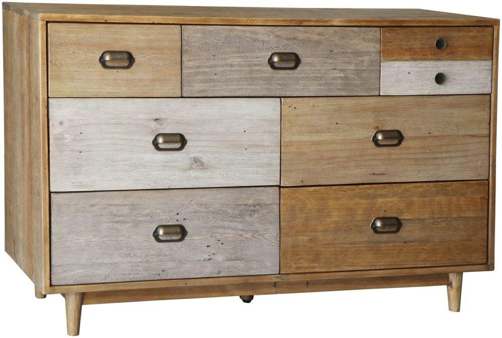 Loft Reclaimed Pine Chest of Drawer - 7 Drawer