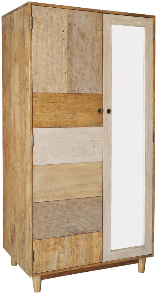 Loft Reclaimed Pine Wardrobe - 2 Door Double