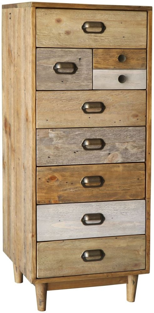 Loft Reclaimed Pine Wellington Chest of Drawer - Tall